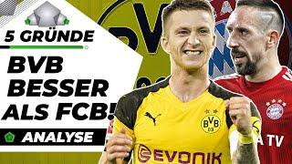 5 Gründe, wieso BVB besser als FC Bayern ist!  Analyse