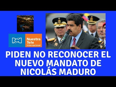 Grupo de Lima pide no reconocer el nuevo periodo presidencial de Nicol�s Maduro