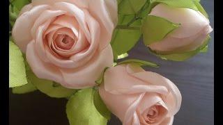 Интерьерная роза из атласных лент.Часть 1.