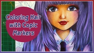 Tutorial - How to color hair with Copic Markers