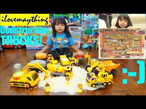 A Lot of CONSTRUCTION TRUCKS! Kids' TOY TRUCKS! Dump Trucks, Cement Mixer Trucks and More!