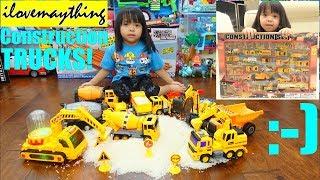 A Lot of CONSTRUCTION TRUCKS! Kids' TOY TRUCKS! Dump Trucks, Cement Mixer Trucks and More!