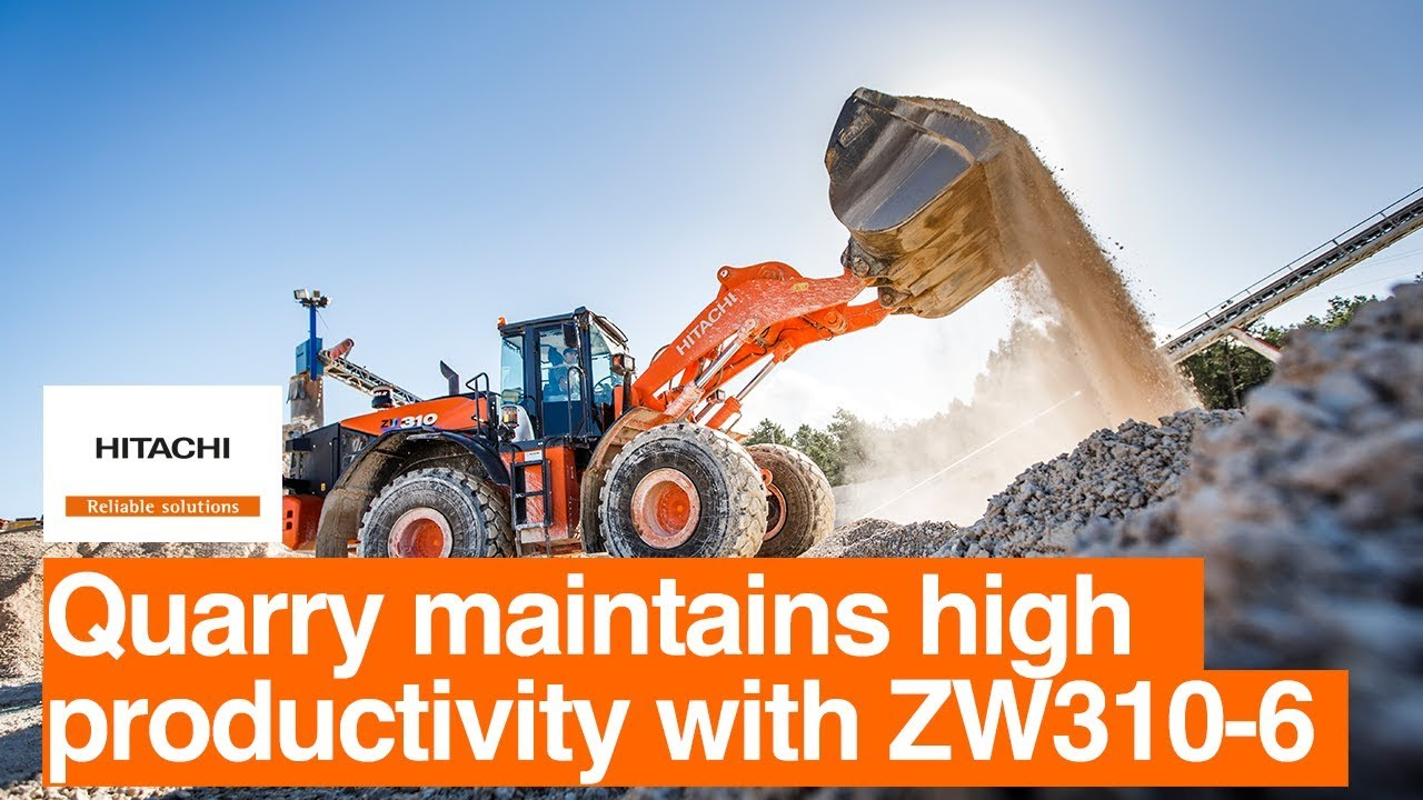 Portuguese quarry maintains high productivity with Hitachi wheel loader