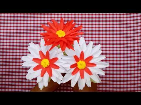 Origami Paper, How to make dahlia paper, dahlia flower paper