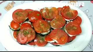 Закуска из баклажан с помидорами! Лёгкий и быстрый рецепт!