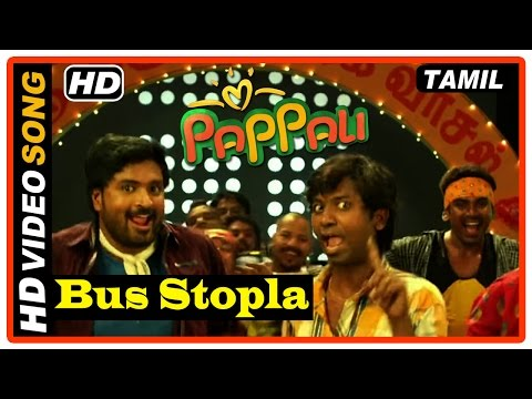 Pappali Tamil Movie | Scenes | Mirchi Senthil And Jagan At The Pub | Bus Stopla Song | Velmurugan
