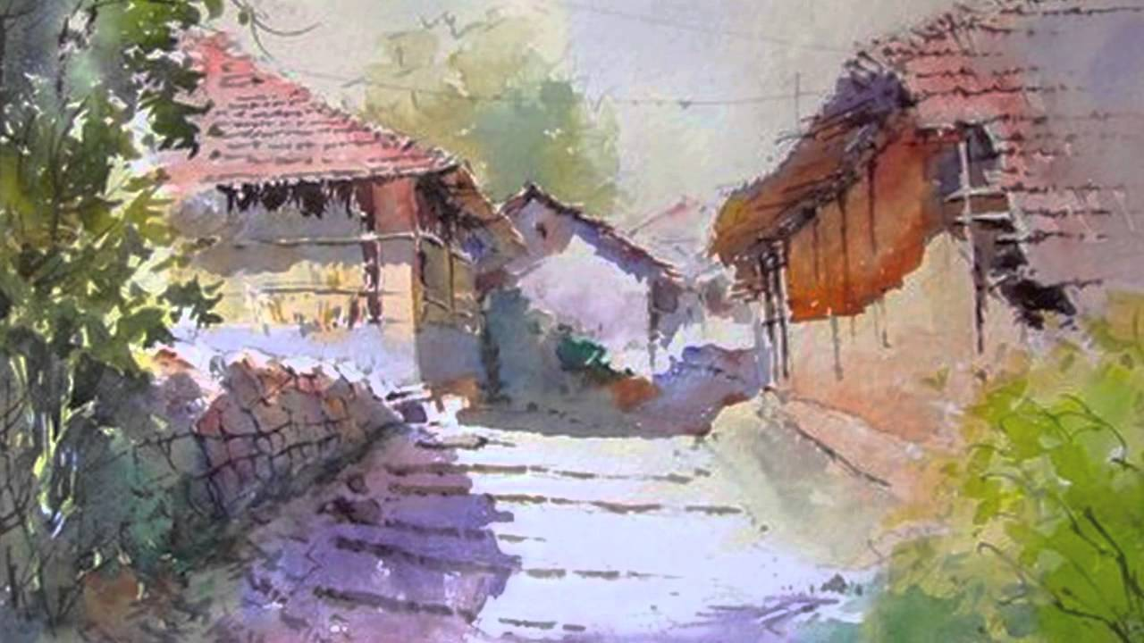 Vilas kulkarni 1 youtube for Watercolor scenes beginners