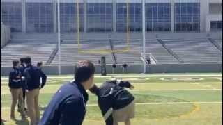 New York Gaelic Football kicking lesson for Army Coach
