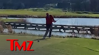 Donald Trump Hits Golf Ball in the Water And Screams, 'I Hate This F***ing Hole!!!' | TMZ
