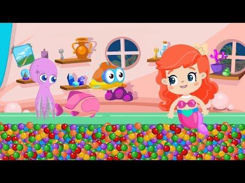 BiBaBu - Küçük Deniz Kızı Ile Renkleri öğreniyoruz ❤????????????- Eğitici çizgi Film