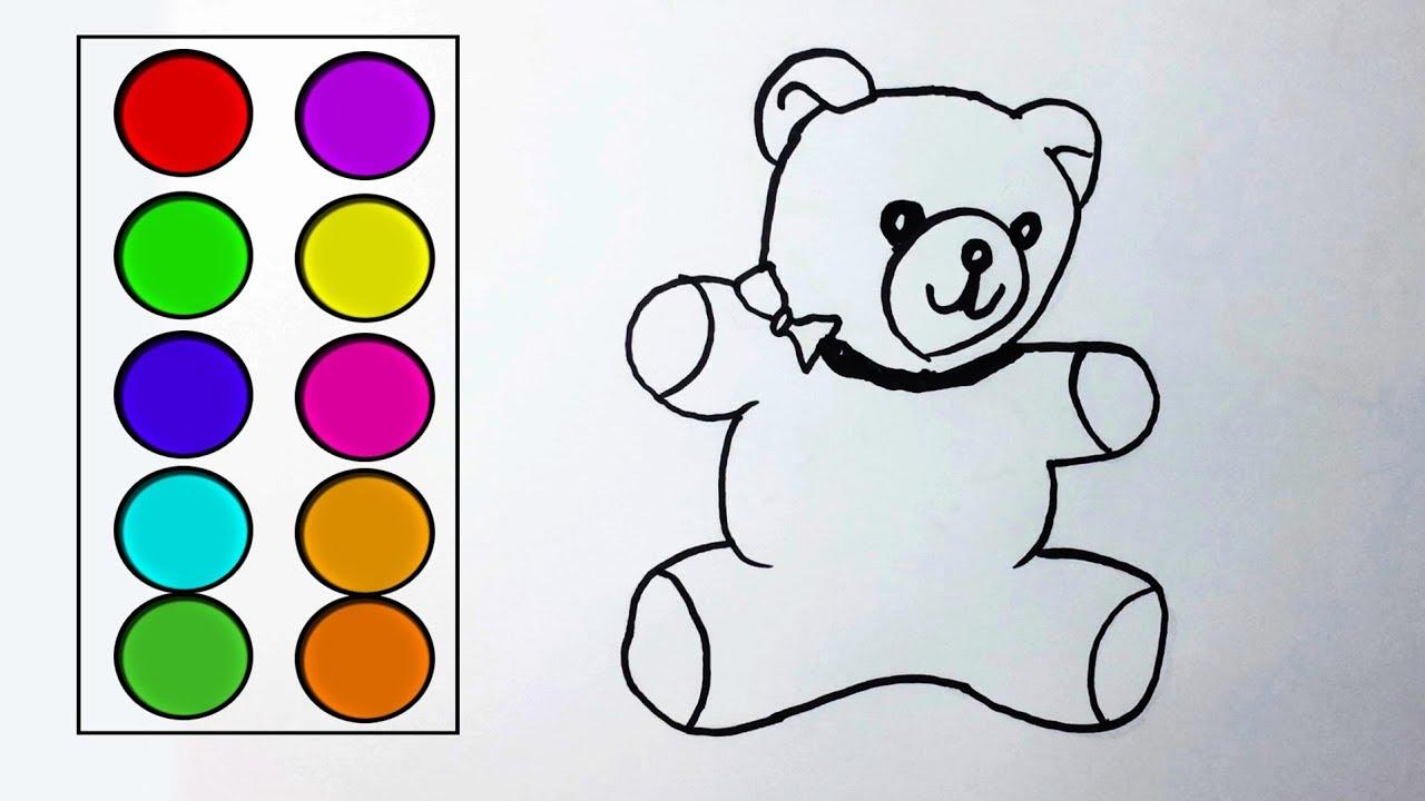 Coloring page with cute cartoon teddy bear. | Premium Vector | 720x1280