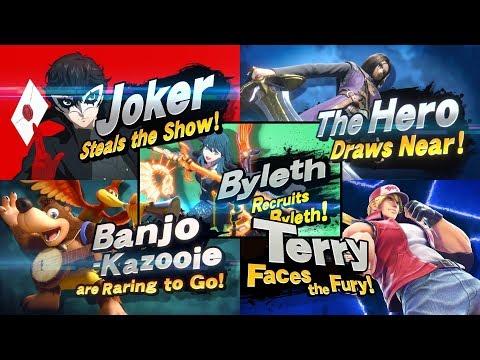 Super Smash Bros Ultimate - All Newcomer Trailers (Including Byleth)
