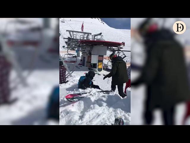 Un telesilla fuera de control lanza por los aires a varios esquiadores en Georgia