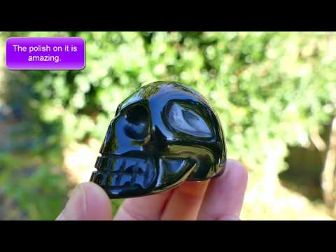 Black Obsidian Crystal Skull with Perfect Polished Finish