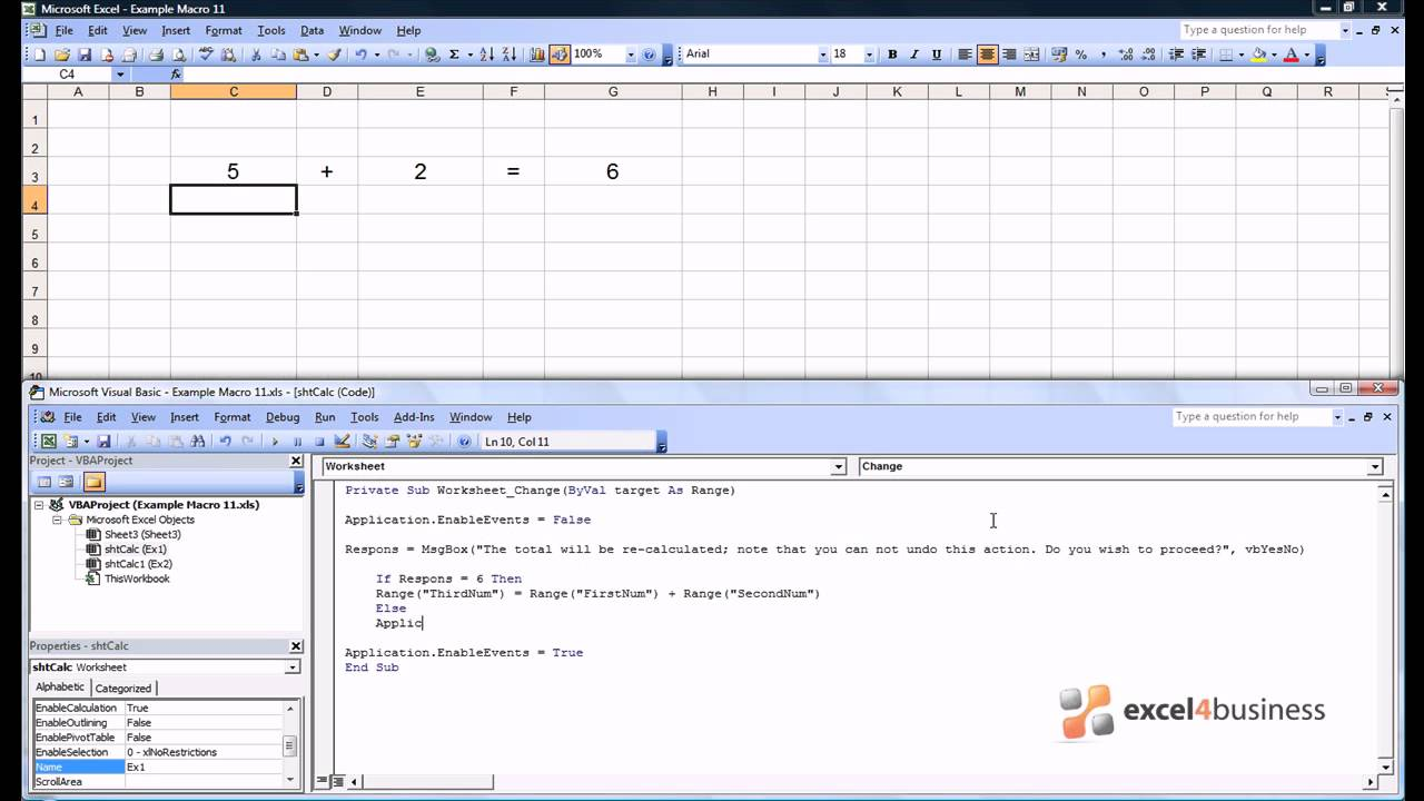 Excel Macros -011- Protecting Macros and Spreadsheets - YouTube