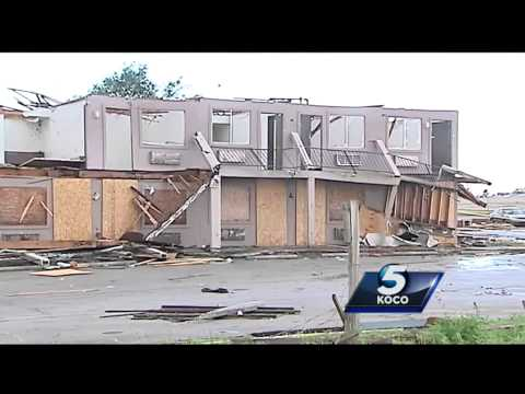 Family takes shelter at hotel hit hard by tornado