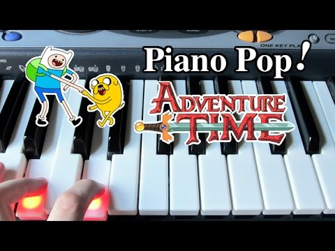 Adventure Time Theme Song Piano Lesson  Easy Piano Tutorial