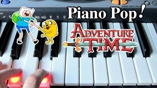 Adventure Time Theme Song Piano Lesson - Easy Piano Tutorial