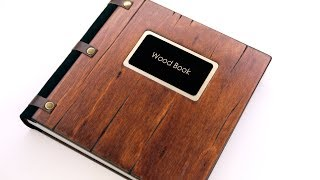 photobook with a wooden cover