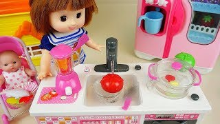 Baby doll cooking food kitchen play Doli house