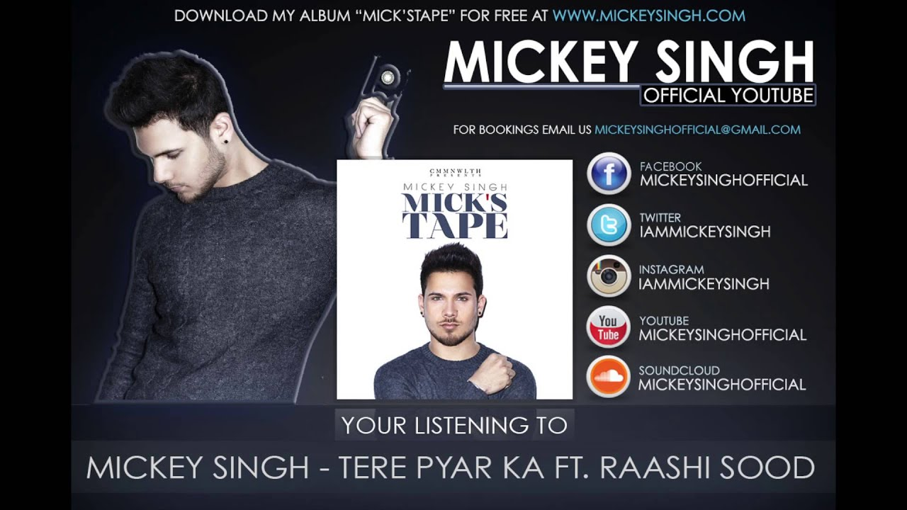 Tere Pyar Ka by Mickey Singh ft. Rashi Sood Lyrics - YouTube