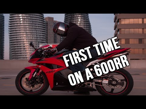 FIRST TIME ON A 600RR BIKE!! 2009 HONDA CBR 600RR