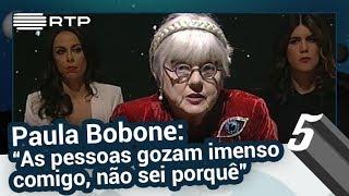 """Paula Bobone: """"As pessoas gozam imenso comigo, não sei porquê"""" - 5 Para a Meia-Noite"""