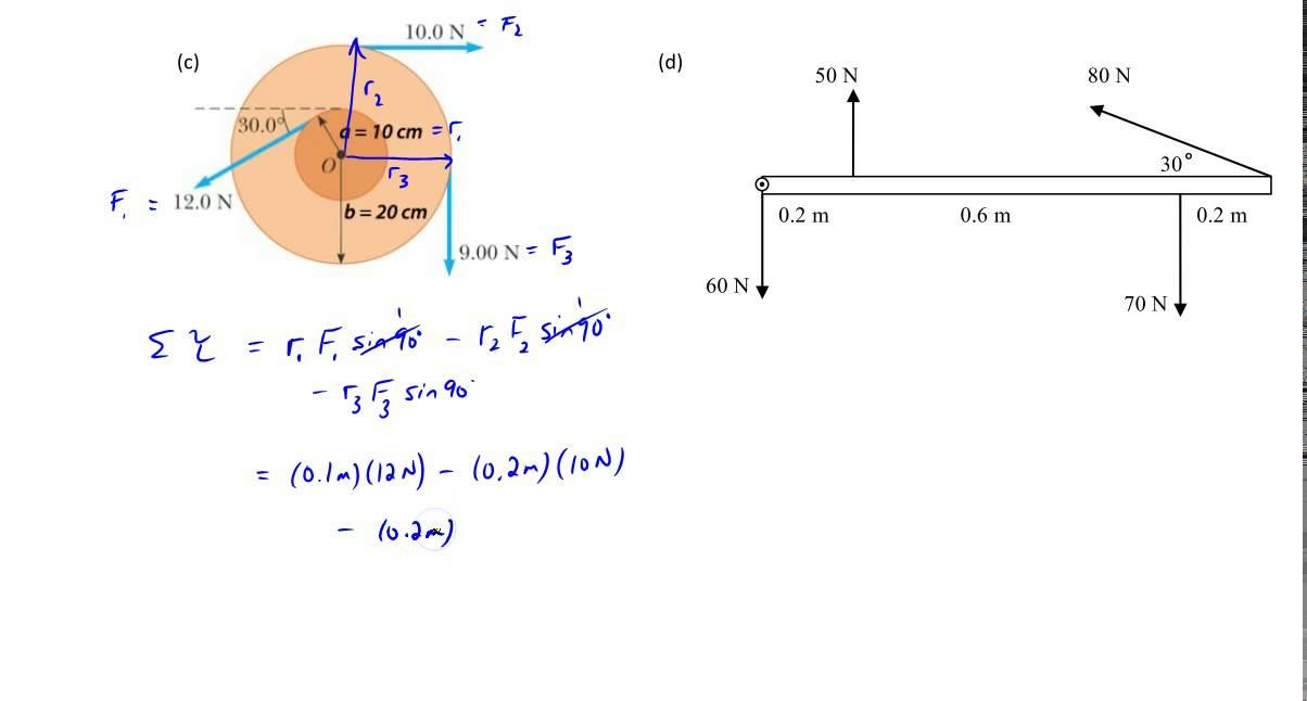 Chapter 9  Example  1 C U0026d  Net Torque