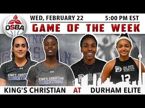 Women's Week 15 - King's Christian @ Durham Elite