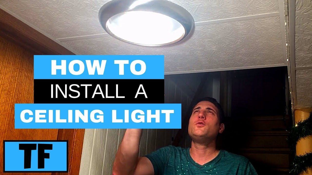 Led Ceiling Light Installation Flush