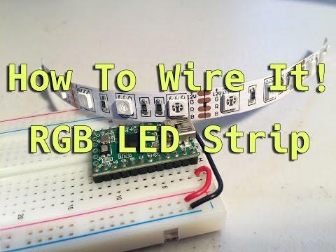 How To Wire It! RGB LED Strip