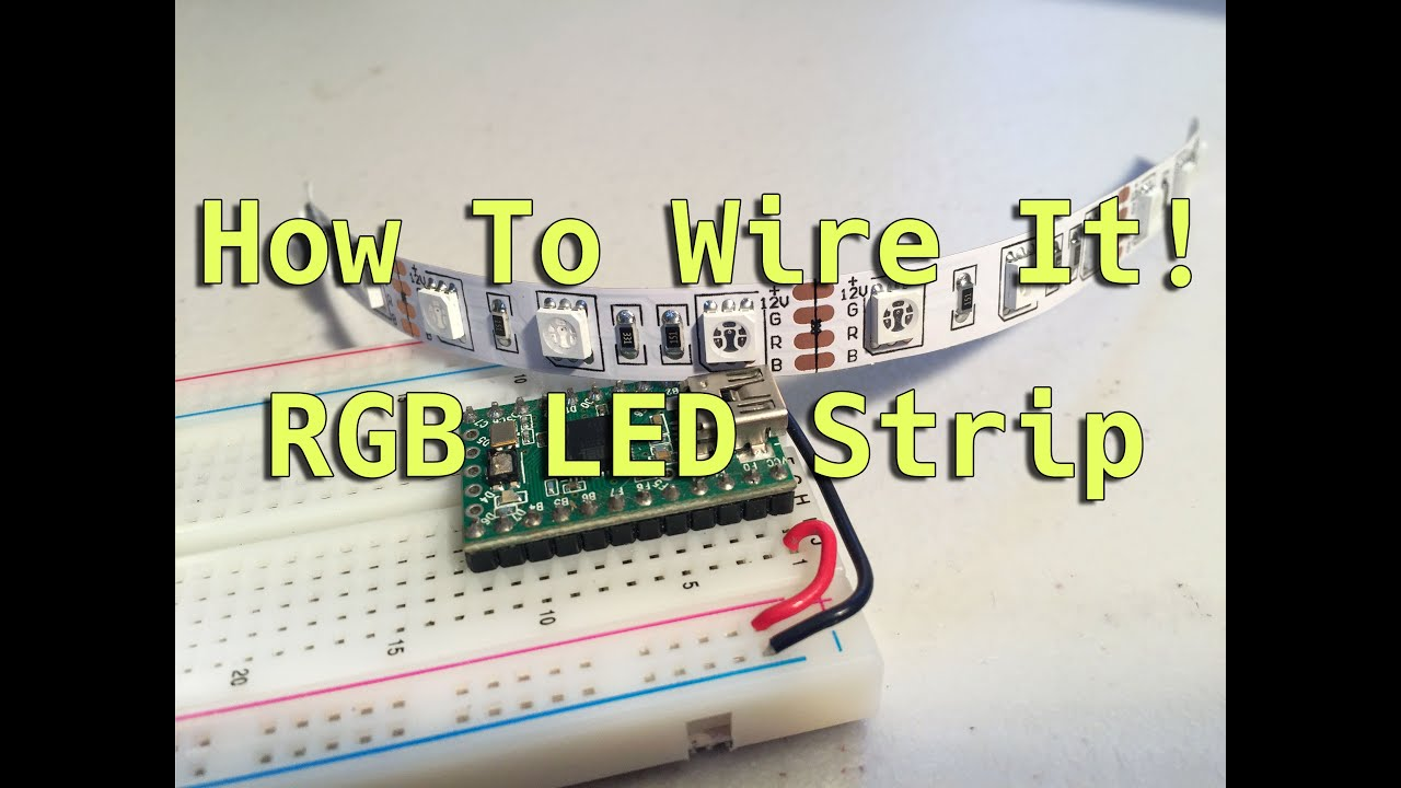how to wire it rgb led strip [ 1280 x 720 Pixel ]