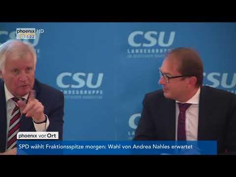 Pressekonferenz der CSU mit Alexander Dobrindt und Horst Seehofer am 26.09.17