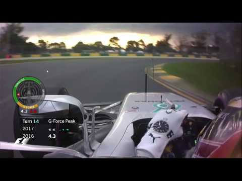 F1 2017 | RECORD! 6.5 G INCREDIBLE G FORCE!!! / Melbourne Pole Lap [Lewis Hamilton]