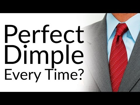 Perfect dimple on your tie knot every time 2 easy steps to dimpled click here for the video how to get the perfect dimple on your tie knot ccuart Choice Image