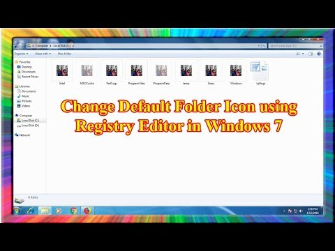 how to change the default folder icon in windows 7 using registry editor