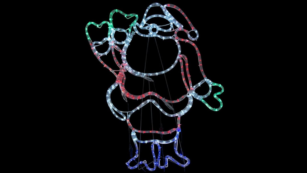 Rope light silhouettes multi colour led waving santa 80cm youtube rope light silhouettes multi colour led waving santa 80cm aloadofball Choice Image