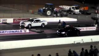 4th Gen Camaro & Challenger vs Audi TT/RS Breaks Race 2@ LVMS Midnight Mayhem