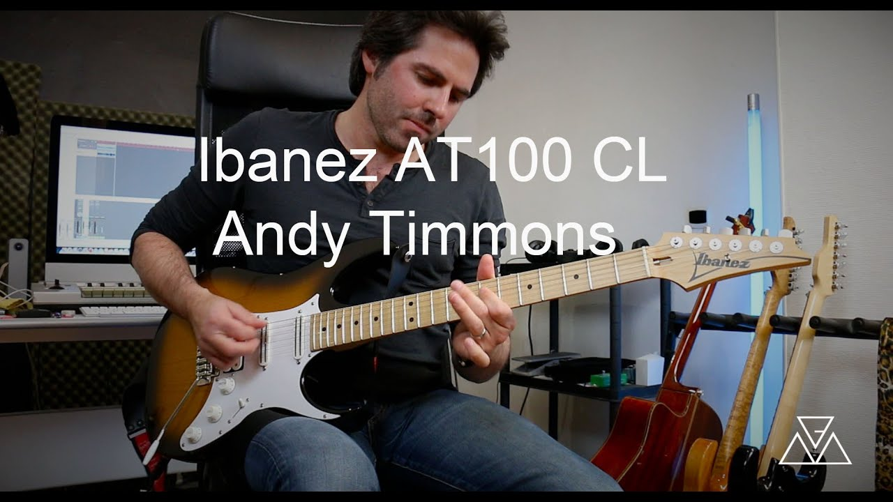 Ibanez Andy Timmons AT100 cl demo by martial allart - YouTube