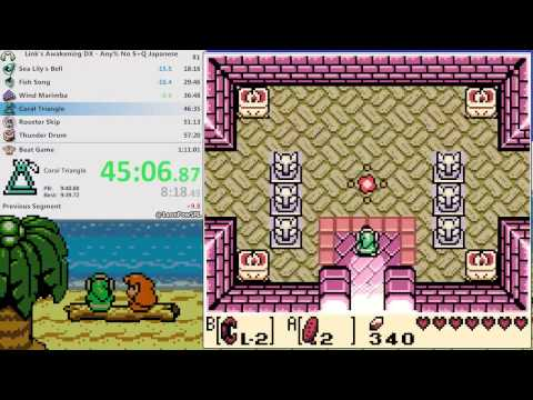 Link's Awakening Any% No S&Q Japanese (1:10:25)