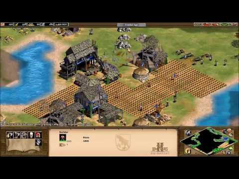 ARIS plays AoE2: The Huns, Eurasian Steppes map (by Obrad)