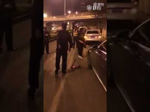 Ballbusting woman kicked police officer