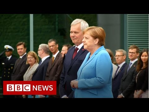 Angela Merkel seen shaking for a third time - BBC News