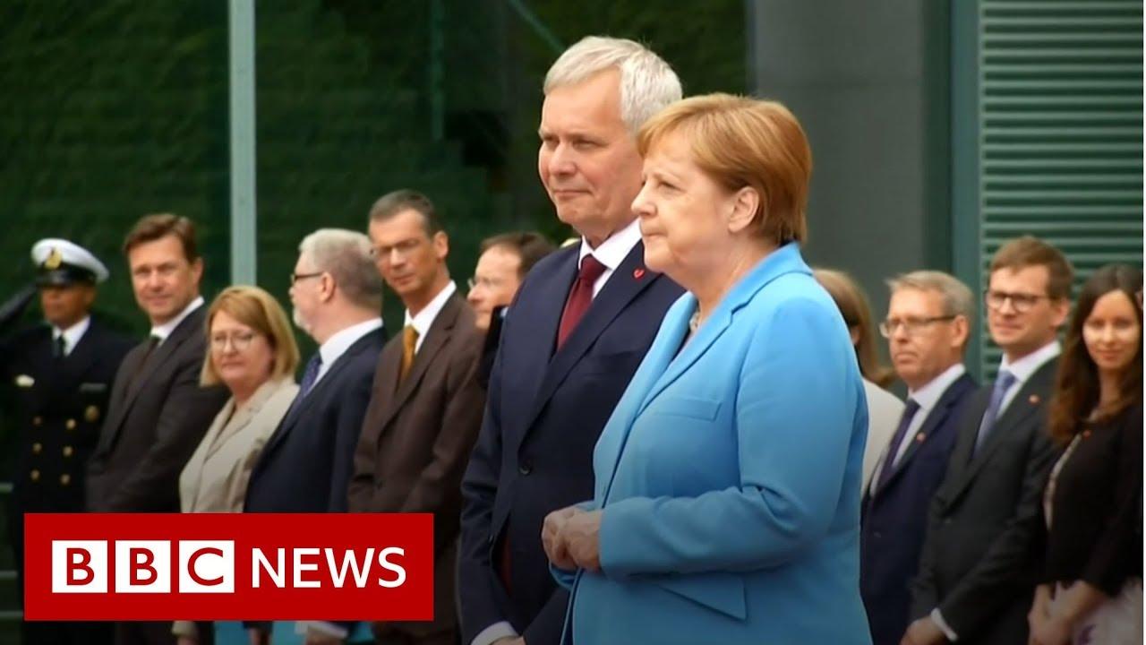 Angela Merkel seen shaking for a third time - BBC News