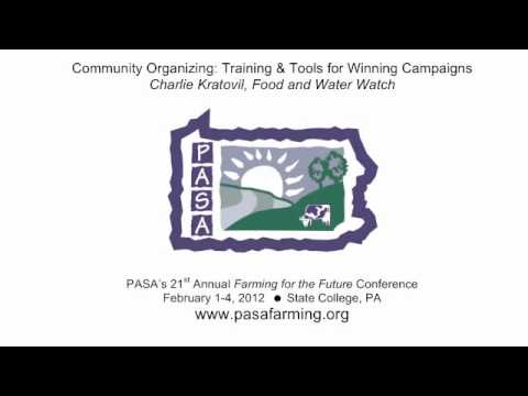 """""""Community Organizing: Training & Tools for Winning Campaigns"""" at 21st PASA Conference"""
