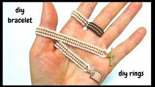 diy bracelet. diy rings. jewelry making ideas for diy jewelry