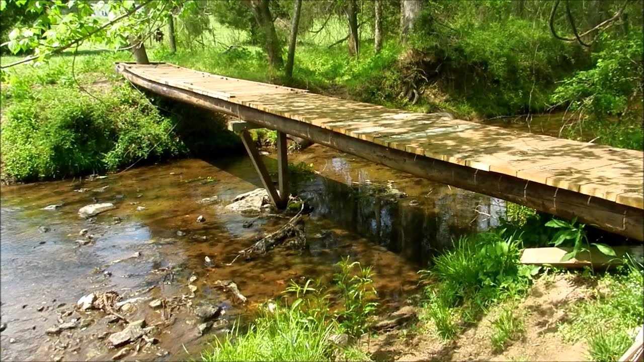 Bridge over creek diy the best bridge 2017 for How much does it cost to build a lake