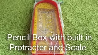 Pencil Box With Built In Protractor & Scale