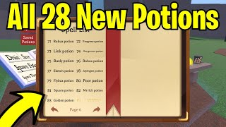 All 18 New Potion Recipes In Wacky Wizards + How To Make Them (Roblox)
