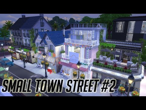 The Sims 4|심즈4 건축 Speed Build | Small Town Street - Right Side- |작은 마을의 상점가 Right Side편